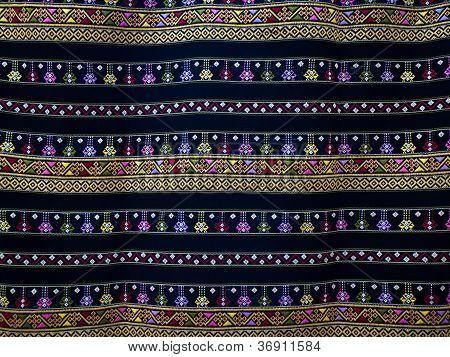Superfície de textura de artesanato em seda.