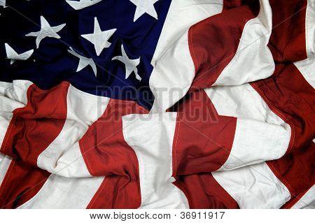 Crumpled American Flag