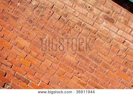 Grungy Brick Wall Diagonal