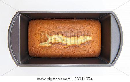 Homemade Pound Cake In Pan