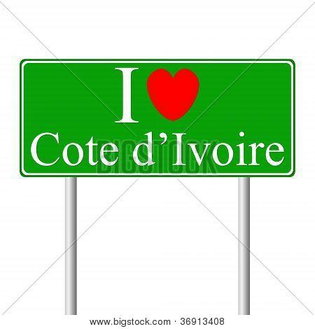 I Love Cote D'ivoire, Concept Road Sign