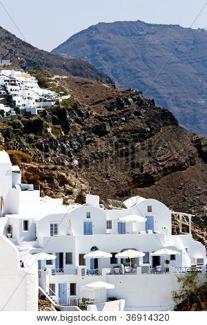 Santorini white houses in Oia