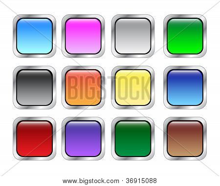 Colorfull Buttons Vector