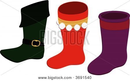 Elf Shoes & Christmas Stockings