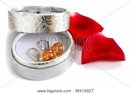 Earrings In Gift Box