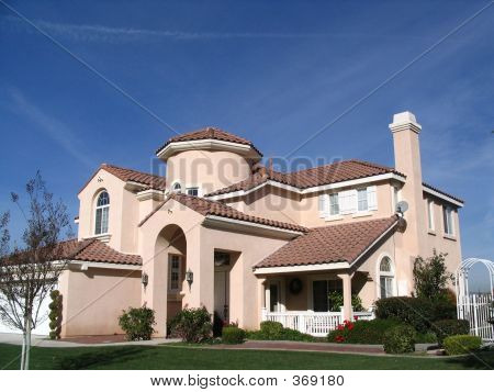 Beige Home/side View
