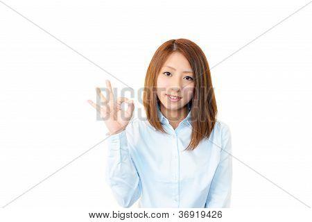 Geschäftserfolg Frau genießen