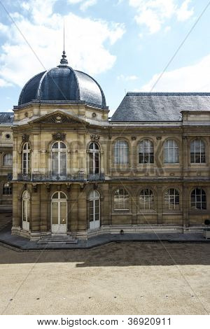 Courtyard Of Archives Nationales Main Building In Paris, France