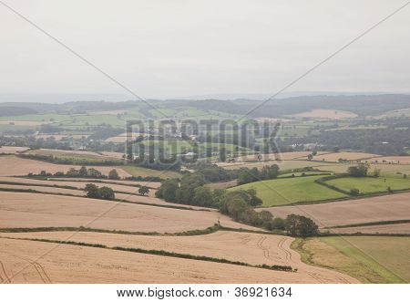 Vista del paisaje de Devon