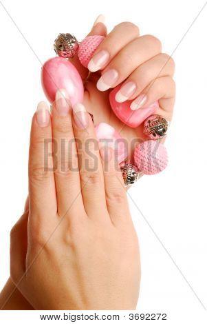 Luxus Frau Finger und Nägel
