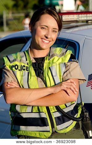 weibliche Polizistin