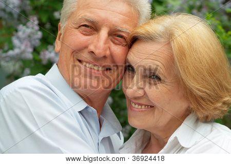 Beauteous couple enjoy union with nature