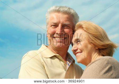 Older people iare enjoying the fresh air