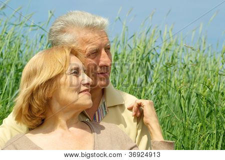 Older persons are enjoying the fresh air