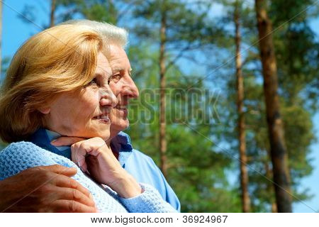 Funny older people are enjoying the fresh air