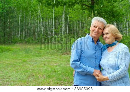 Fine older people are enjoying the air