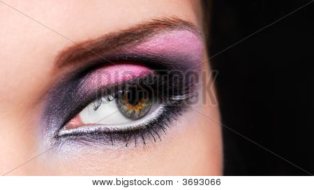 Bright Colors Of Woman Eyes