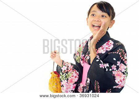 japanese girl wearing yukata