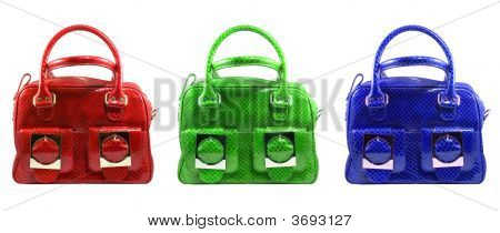 Fashionable Handbag In Three Colors