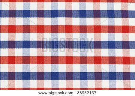 Checkered piece of cloth in vintage style