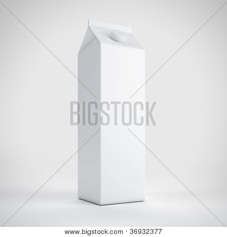 Big milk white carton package