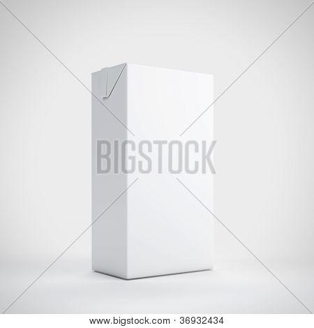 Medium milk white carton package