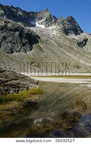 mountain lake in the Bernese Alps