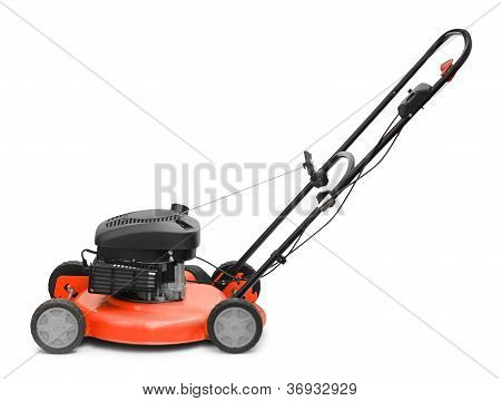 Lawn Mower Isolated On White