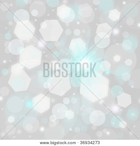Abstract New Year's Background In Gray White And Blue Colors
