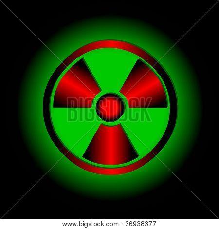 Símbolo radiactivo. Vector icono.