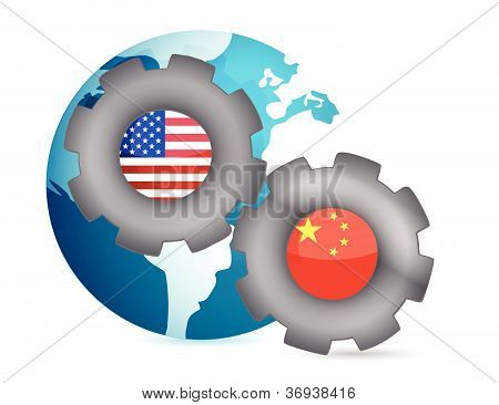 Ons en China samenwerken Concept
