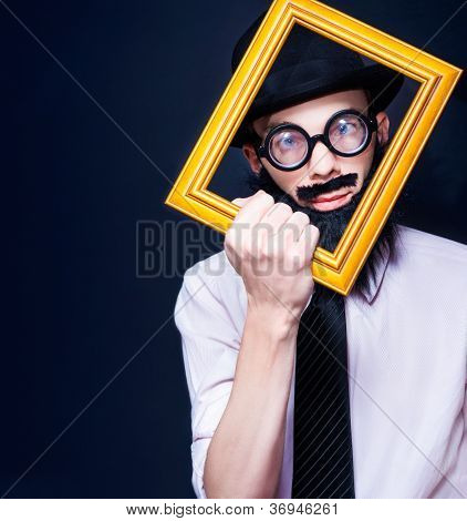 Social Media Man Resizing His Profile Picture