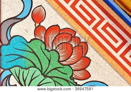 Painting Of Lotus Flower
