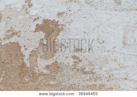 Old Dilapidated Light Concrete Wall