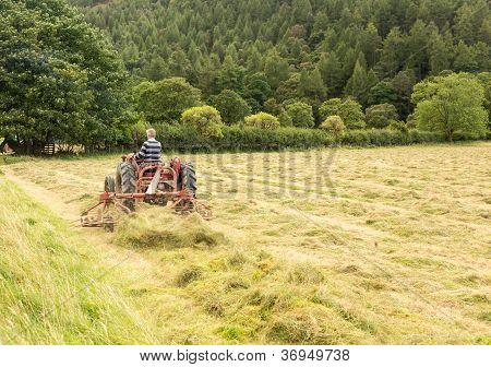 Antique Tractor And Threshing Machine