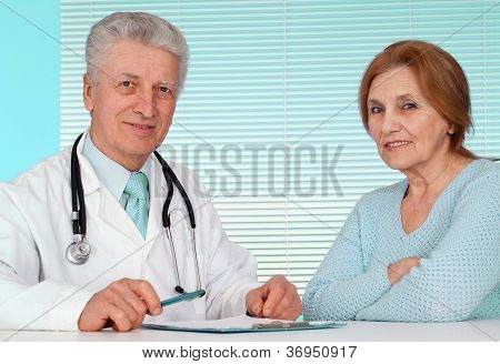 Pleasant doctor and his patient