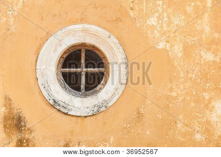 Round Window In An Old Wall