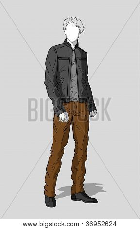 Jacket and pants for men
