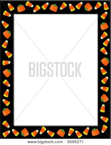 Halloween Candy Corn Frame Black