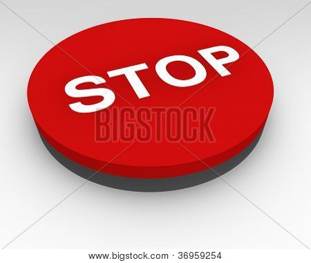 Red Stop Pushbutton