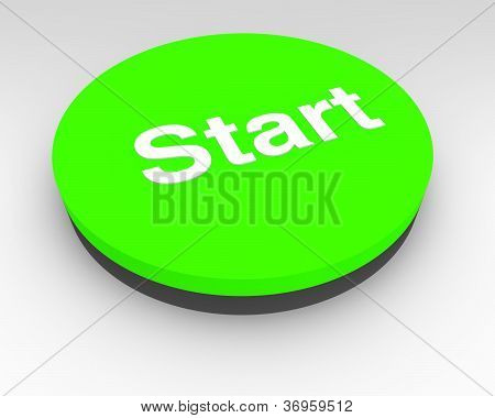 Green Electronic Start Button