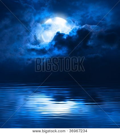 Dark Night Full Moon