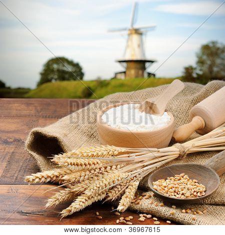 Organic Ingredients For Bread Preparation
