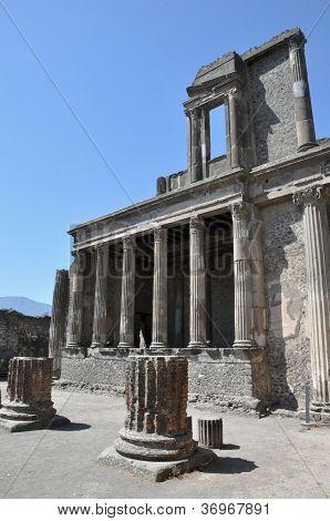 View Of Pompeii Ruins, Italy