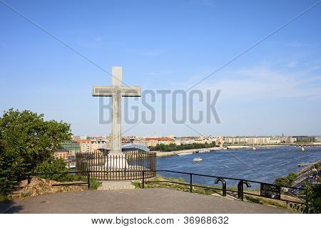 Gellert Hill Cross In Budapest