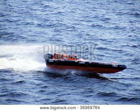 Riga, Latvia - 24 July: Rigid Inflatable Boat Race