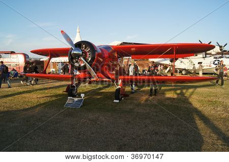 Beechcraft D17-5 Staggerwing plane