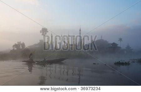 Inle Lake in Shan State, Myanmar