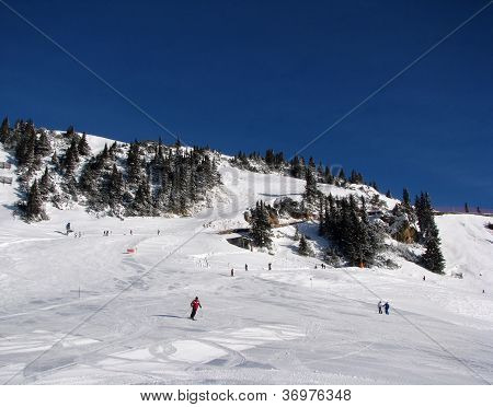 ski slopes in Alps