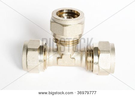 Metal Tee Fittings For Pipes